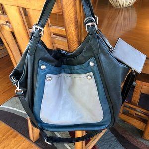 Sondra Roberts Handbag Multicolor Leather Satchel